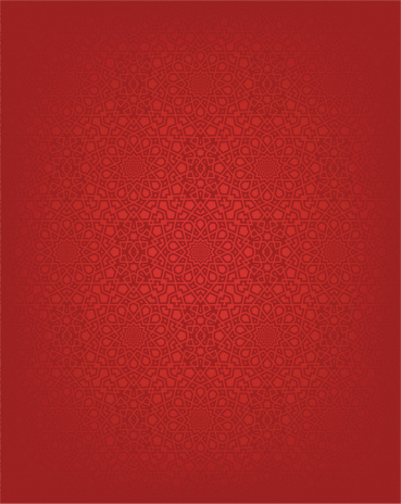 Red seamless Islamic design background