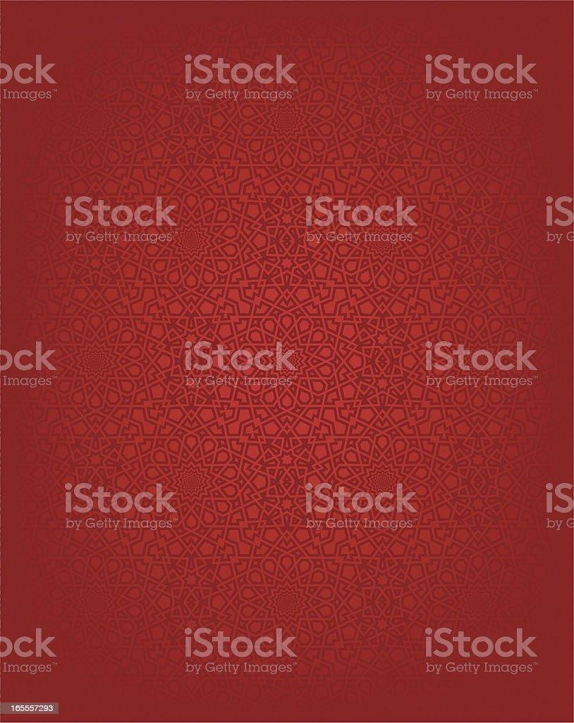 Red seamless Islamic design background vector art illustration