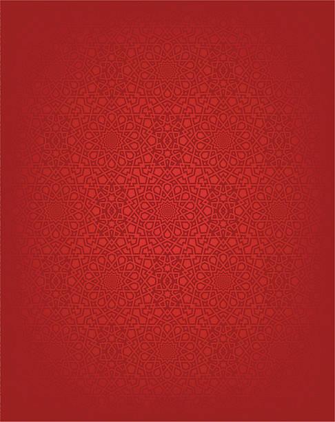 red seamless islamic design background - 伊斯蘭教 幅插畫檔、美工圖案、卡通及圖標