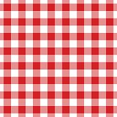 Red Seamless Tablecloth Pattern
