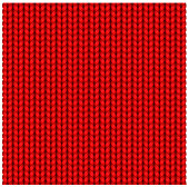 Red seamless texture of knitting woolen clothes. Christmas Red Knitted Pattern. Vector illustration.