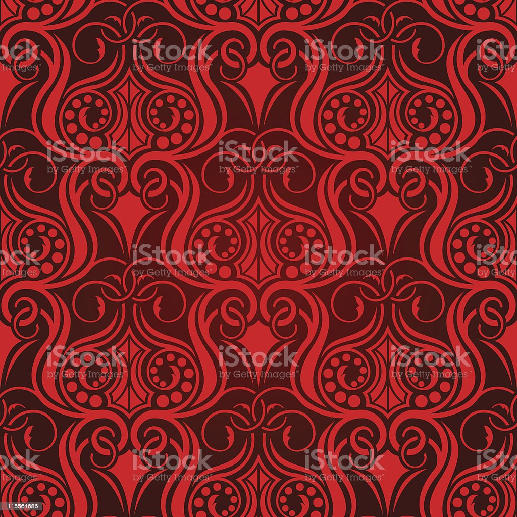 Red seamless wallpaper royalty-free stock vector art