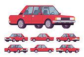 Red sedan set