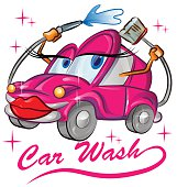 red sexy car wash cartoon