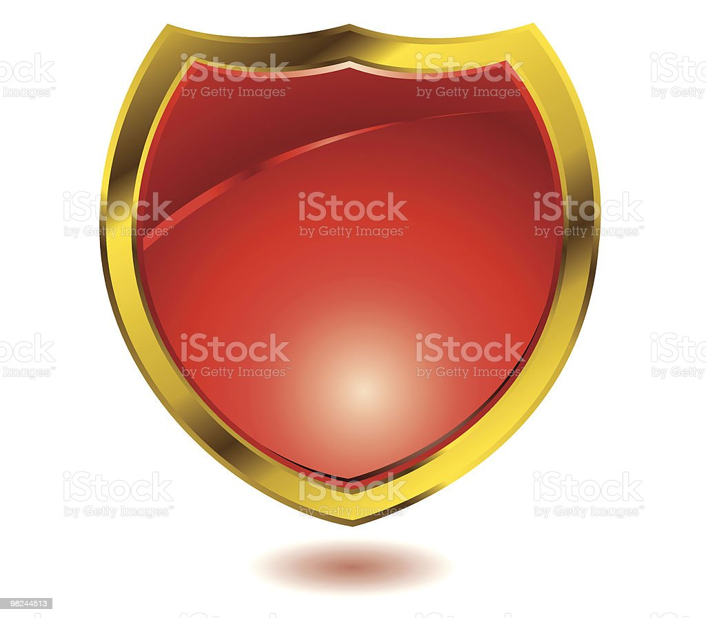 red shield royalty-free red shield stock vector art & more images of badge
