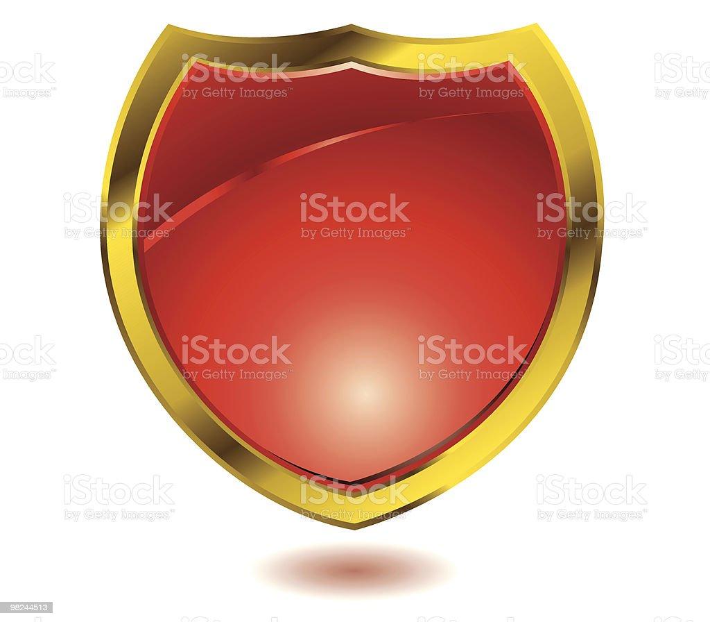Scudo rosso scudo rosso - immagini vettoriali stock e altre immagini di badge royalty-free