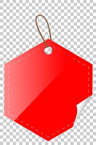 붉은 광택 육각 빈 태그 0명에 대한 스톡 벡터 아트 및 기타 이미지