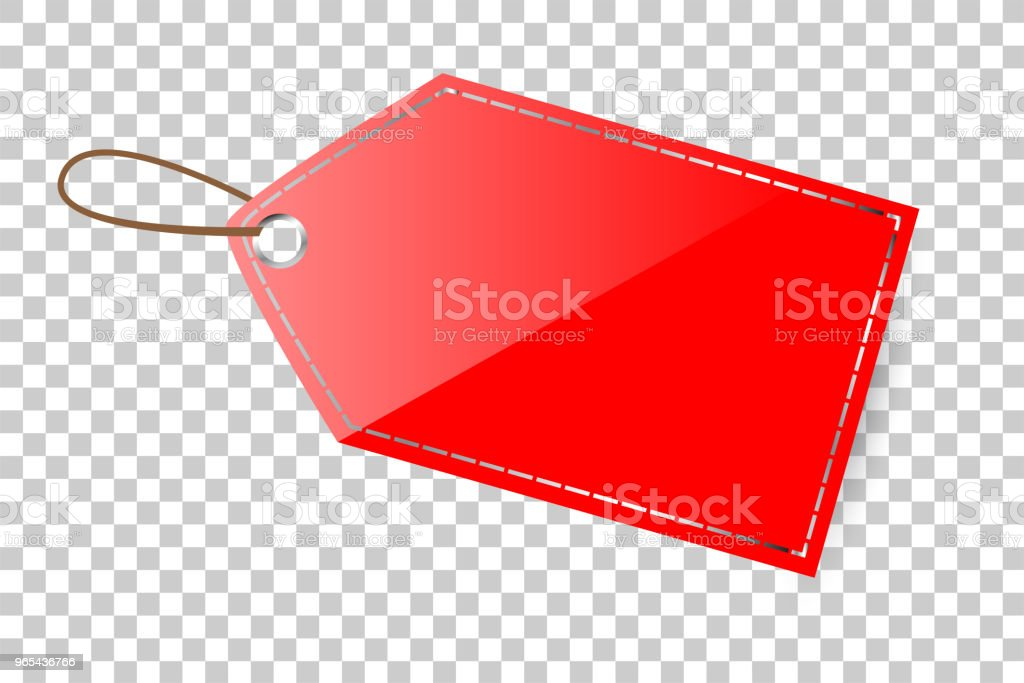 red shining blank tag, at transparent effect background red shining blank tag at transparent effect background - stockowe grafiki wektorowe i więcej obrazów bez ludzi royalty-free