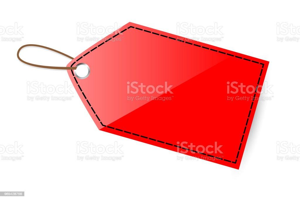 Red Shining Blank Tag, black list red shining blank tag black list - stockowe grafiki wektorowe i więcej obrazów bez ludzi royalty-free