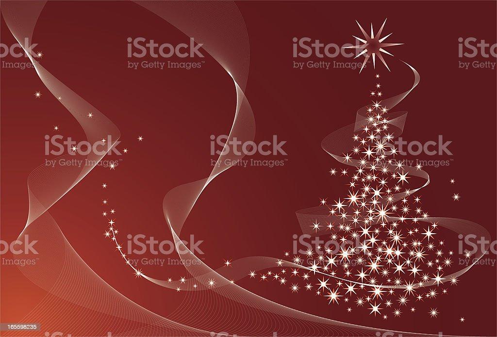 Brilho vermelho da árvore de Natal ilustração de brilho vermelho da árvore de natal e mais banco de imagens de abstrato royalty-free