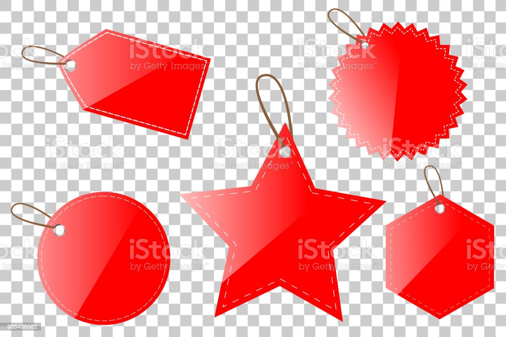 red shinning blank circle, oval, square, rectangle, hexagon star tag, at Transparent Effect Background red shinning blank circle oval square rectangle hexagon star tag at transparent effect background - stockowe grafiki wektorowe i więcej obrazów bez ludzi royalty-free