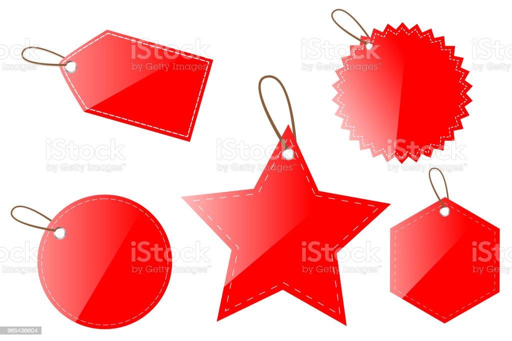 red shinning blank circle, oval, square, rectangle, hexagon star tag red shinning blank circle oval square rectangle hexagon star tag - stockowe grafiki wektorowe i więcej obrazów bez ludzi royalty-free