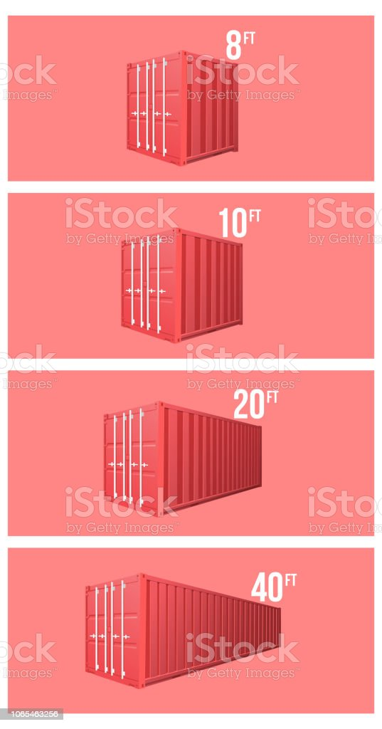 Red Shipping Cargo standard cargo 10 feet Container for Logistics and...
