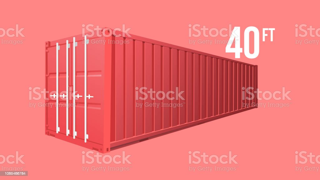 Red Shipping Cargo standard cargo 40 feet Container for Logistics and...