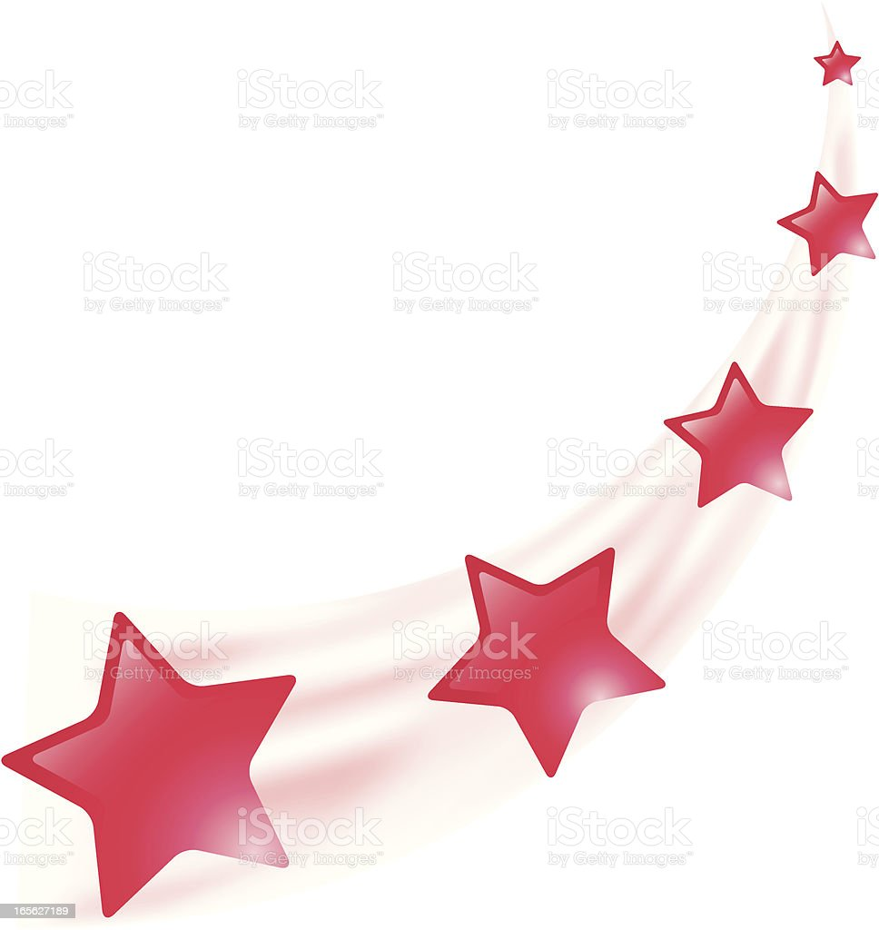 Red Shooting Stars royalty-free stock vector art