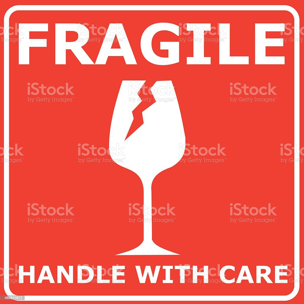Red sign FRAGILE vector illustration royalty-free red sign fragile vector illustration stock illustration - download image now