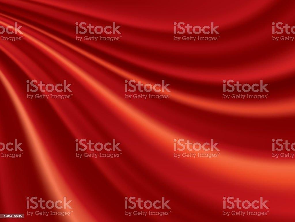 赤いシルクの背景 ベクターアートイラスト
