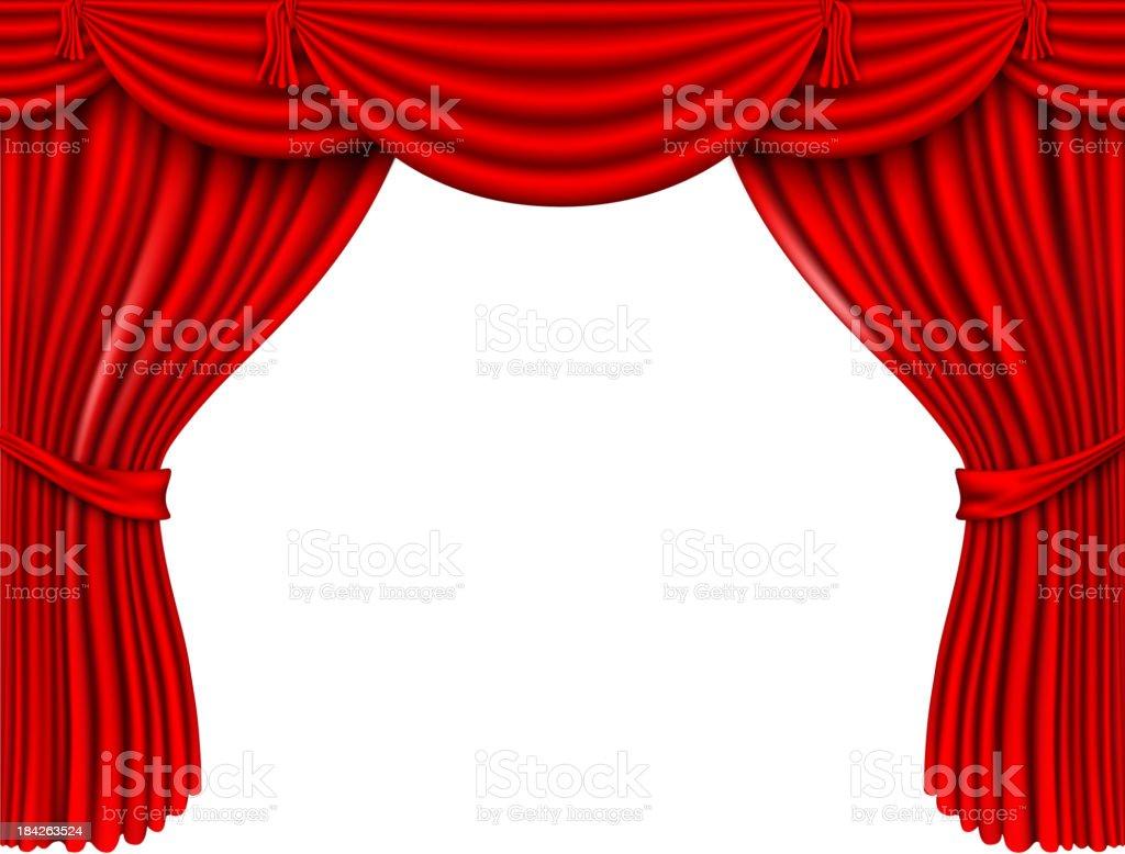Tende In Velluto Di Seta rosso tende in seta - immagini vettoriali stock e altre