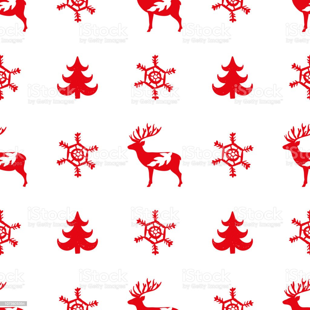 Red simple Christmas fir tree for holiday celebrations Scandinavian...