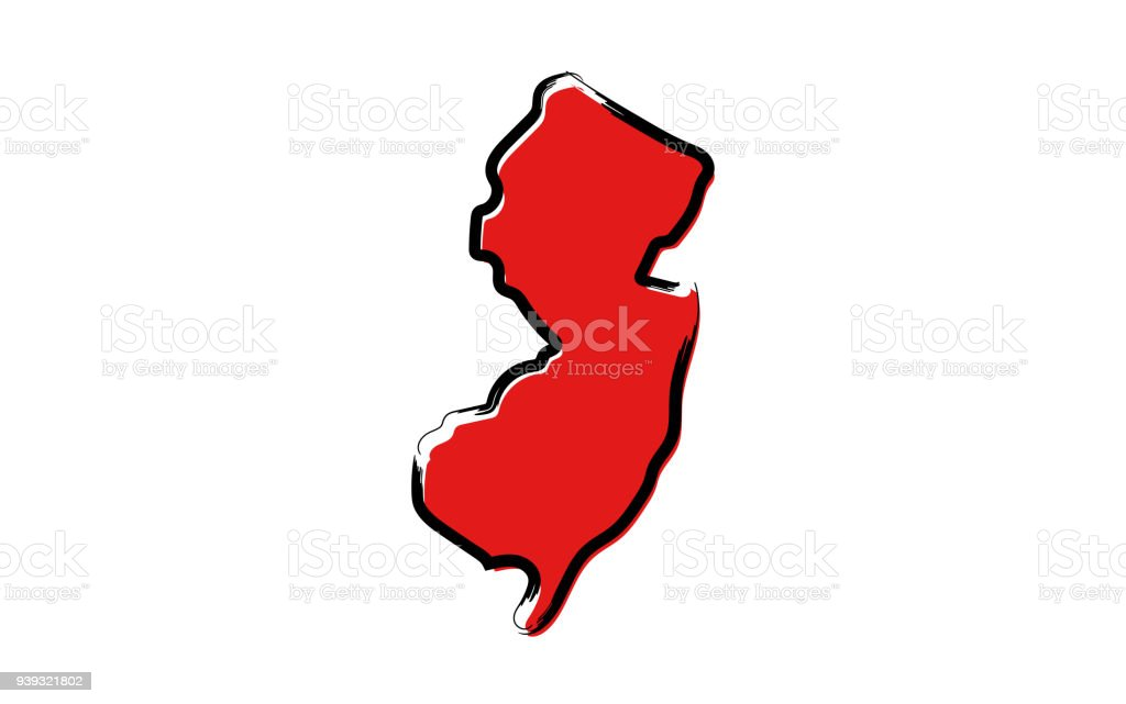 royalty free cartoon of state new jersey clip art vector images rh istockphoto com new jersey clip art free new jersey outline clipart