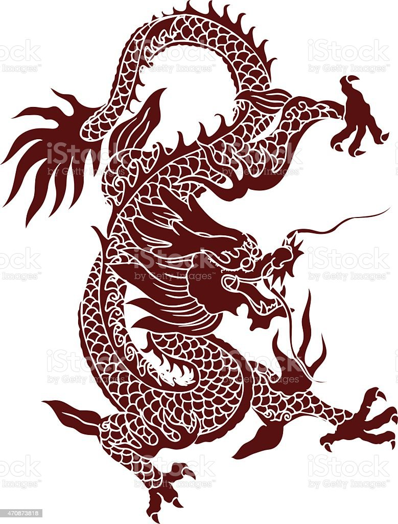 royalty free chinese dragon clip art vector images illustrations rh istockphoto com oriental dragon vector chinese dragon vector art