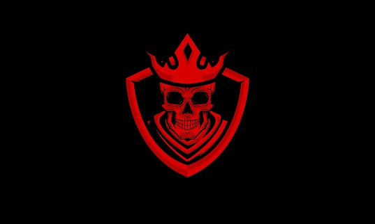 Red Skull King Vector Illustration