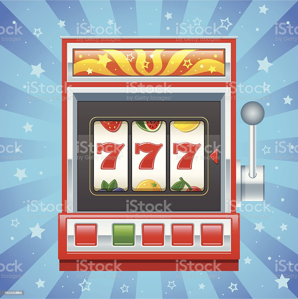 Red slot machine royalty-free stock vector art