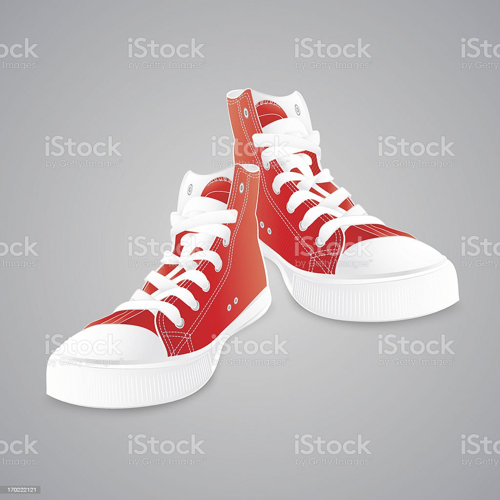 Red sneakers royalty-free red sneakers stock vector art & more images of alternative lifestyle
