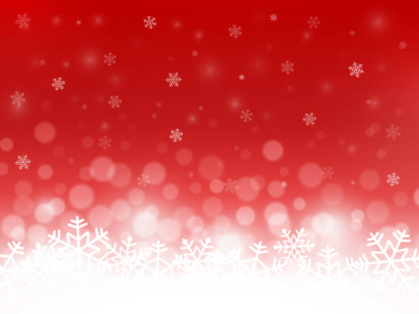 Red snow background. Snowflakes with particles and bokeh. Blurred backdrop. Christmas background. Holiday winter theme. Vector illustration Red snow background. Snowflakes with particles and bokeh. Blurred backdrop. Christmas background. Holiday winter theme. Vector illustration. holiday background stock illustrations