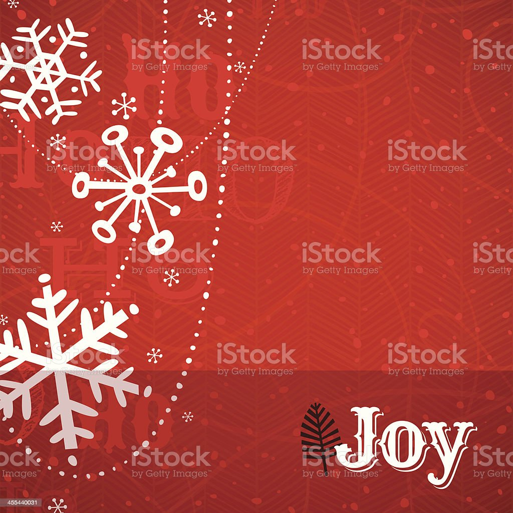 Red Snowflake Holiday Background. EPS10 royalty-free stock vector art