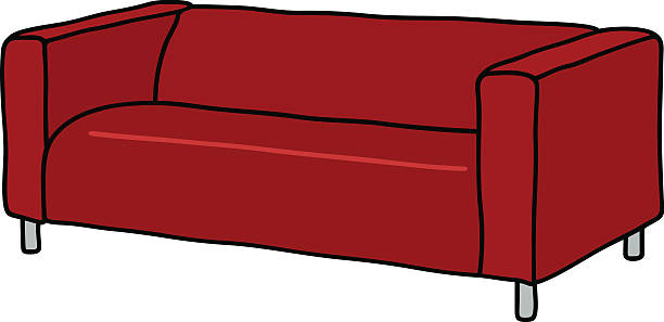 Top 60 Living Room With Red Couch Cartoons Clip Art Vector Graphics