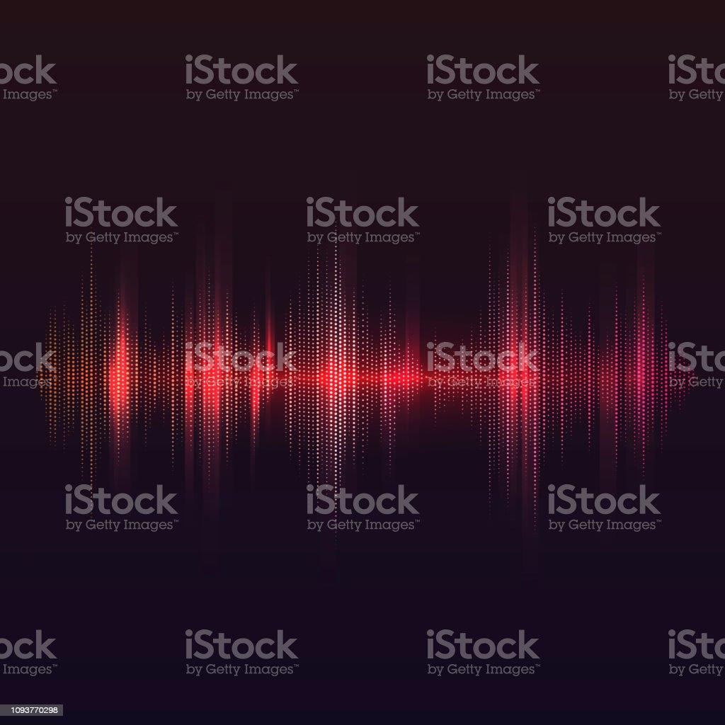 赤い音波イコライザー ベクトル デザイン - DJのロイヤリティフリーベクトルアート