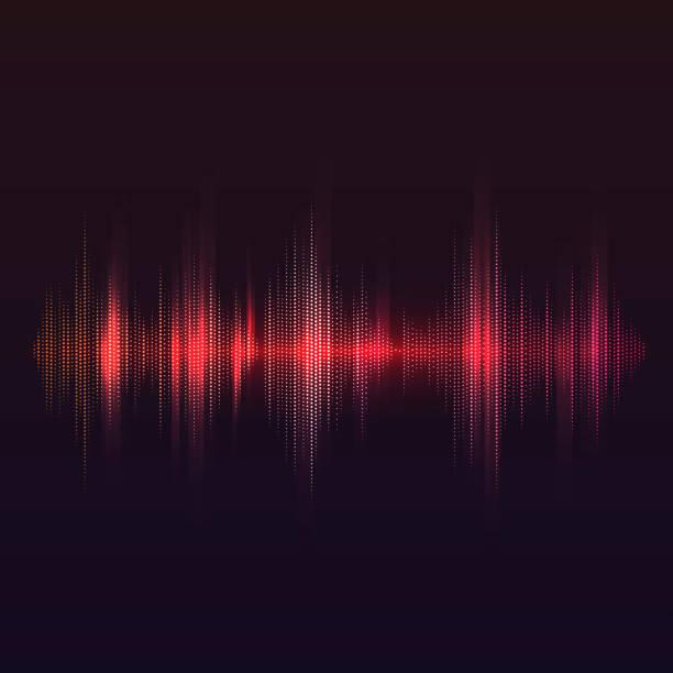 赤い音波イコライザー ベクトル デザイン - 音響点のイラスト素材/クリップアート素材/マンガ素材/アイコン素材