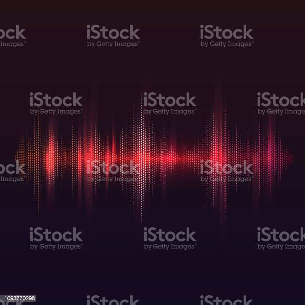 赤い音波イコライザー ベクトル デザイン - DJのベクターアート素材や画像を多数ご用意