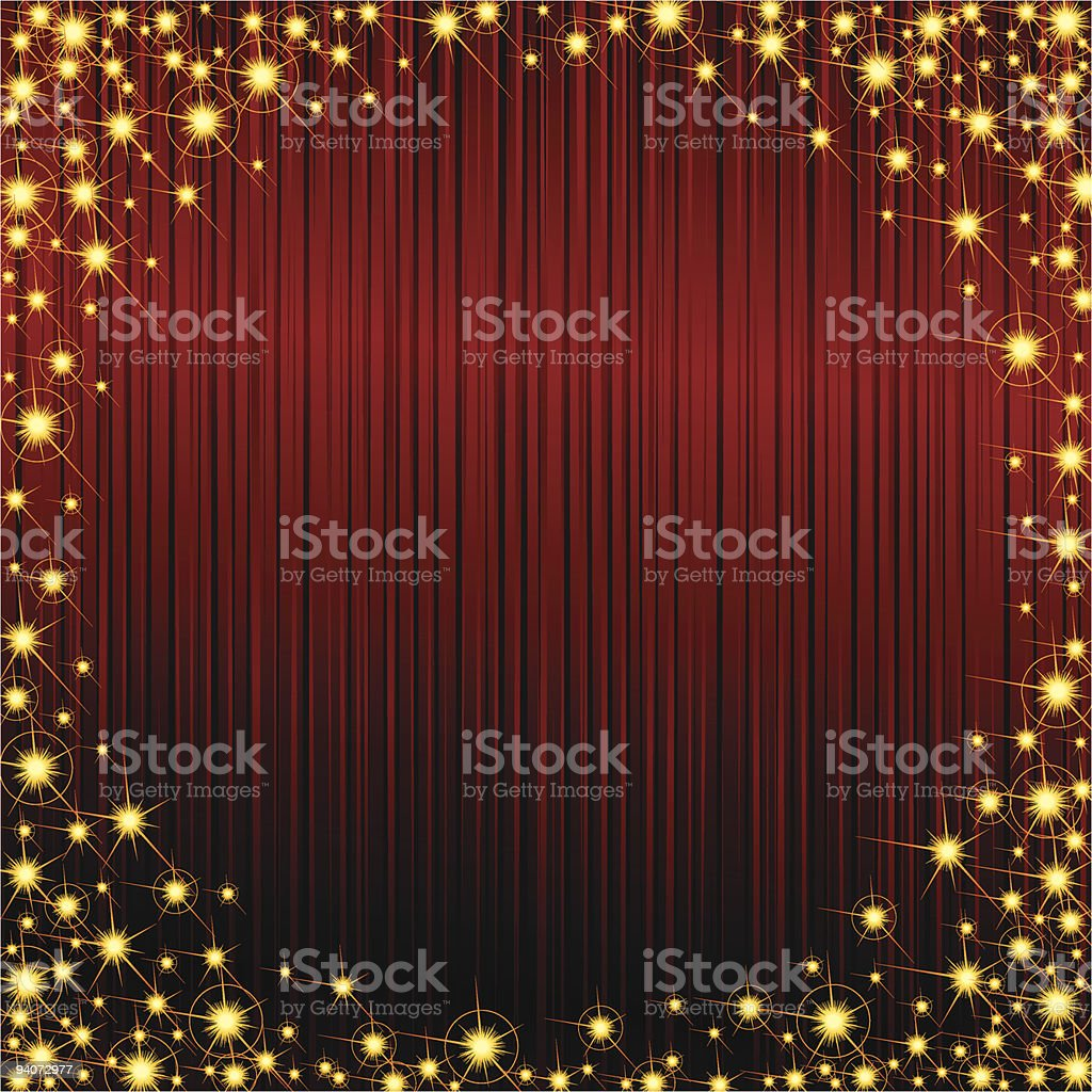 Red sparkly frame royalty-free stock vector art