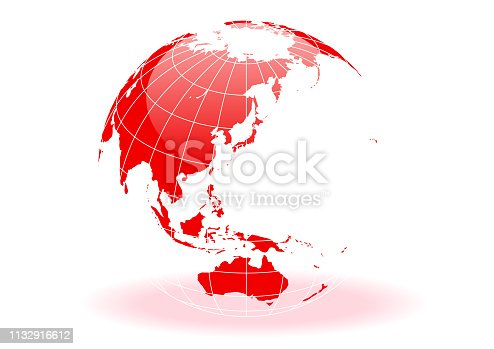 Red Spherical Earth