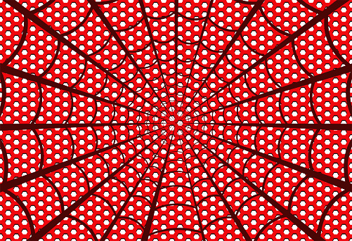 Red spider web. Vector illustration