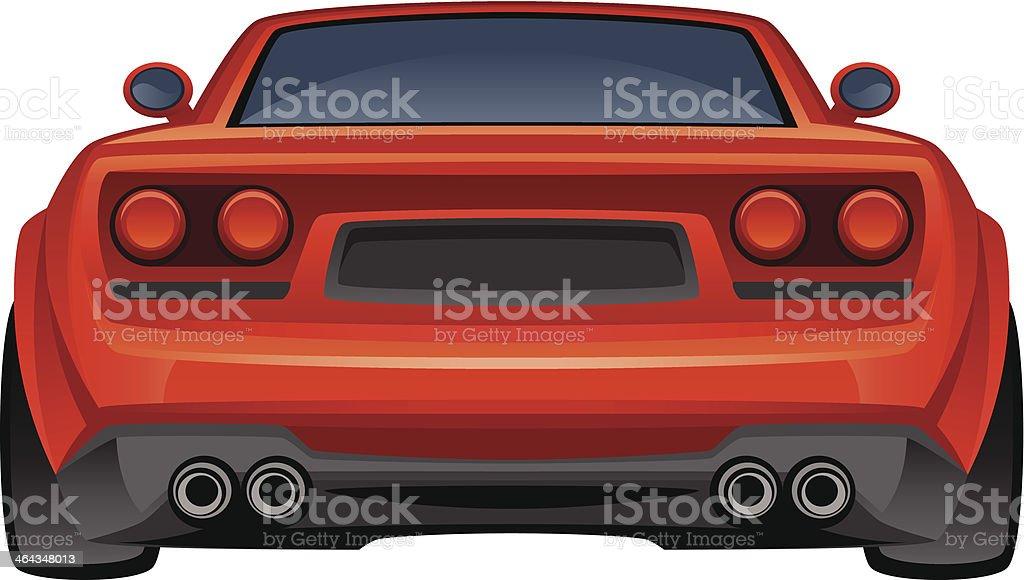 Red sport ca vector art illustration