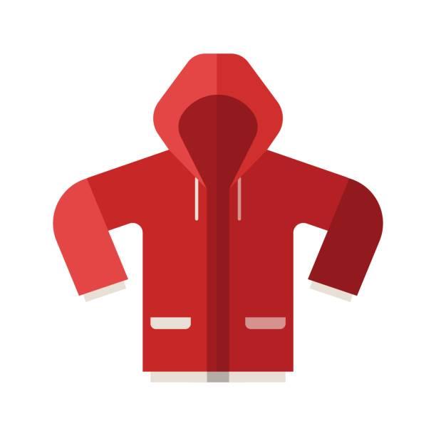 symbol rot sport jacke - parkas stock-grafiken, -clipart, -cartoons und -symbole