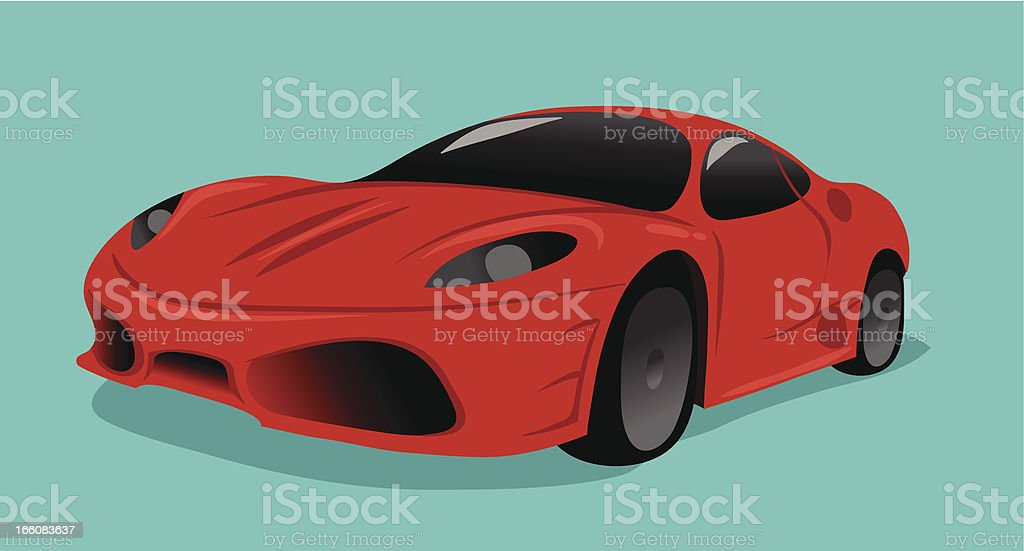Red Sports Car royalty-free stock vector art