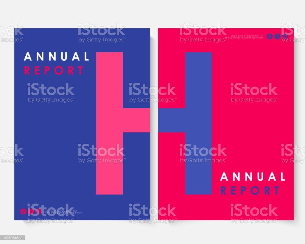 赤の広場年間レポート カバー デザイン テンプレート ベクトル