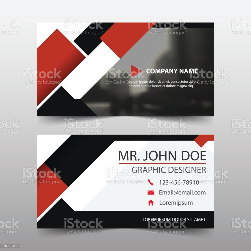 Red square corporate business card name card template horizontal red square corporate business card name card template horizontal simple royalty free stock vector art magicingreecefo Choice Image