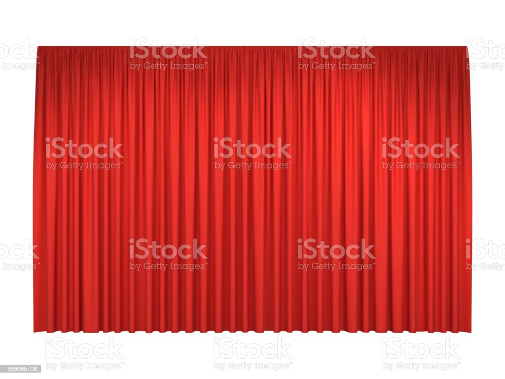 Red stage curtains - Royalty-free Abstract stock vector