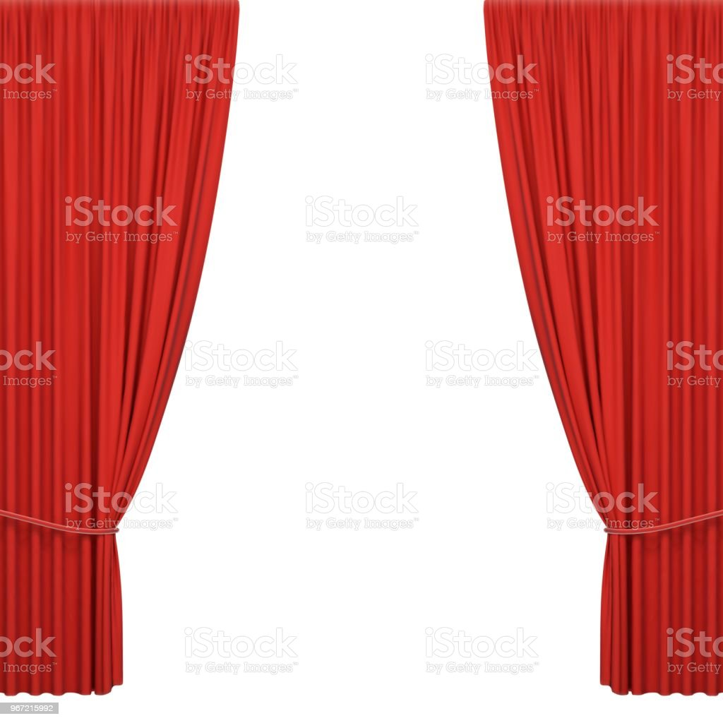 Red stage curtains royalty-free red stage curtains stock illustration - download image now