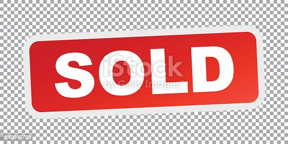 istock SOLD red stamp. Flat vector icon 840646738