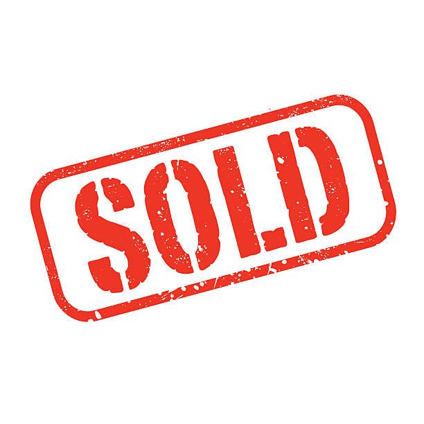 rote vektor-grunge-stempel verkauft - verkaufen stock-grafiken, -clipart, -cartoons und -symbole