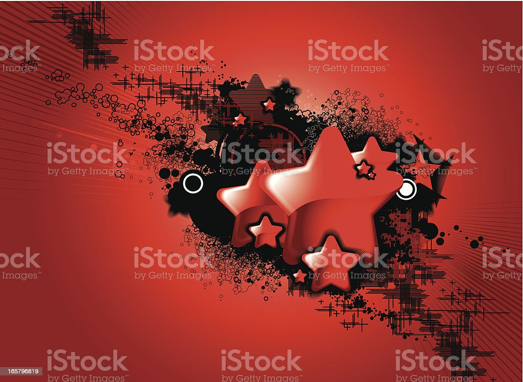 Red star background royalty-free stock vector art