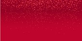Red stars dots scatter texture confetti background