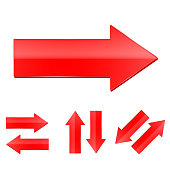 Red straight arrows set