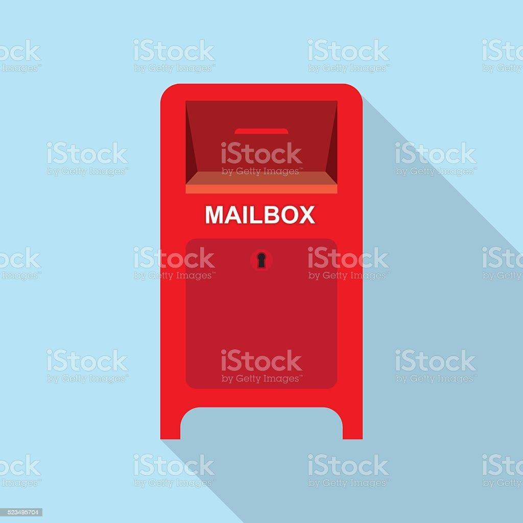 Rote Straße, Postfach. – Vektorgrafik